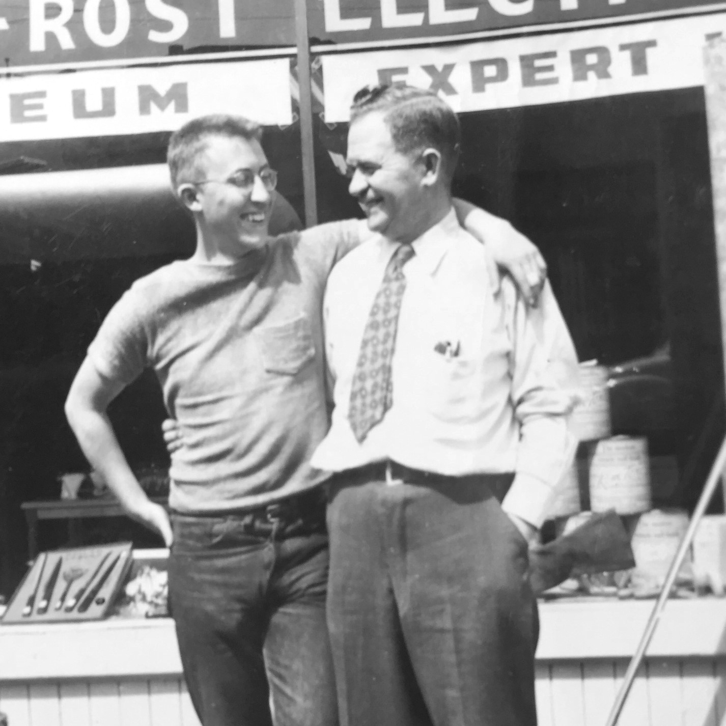 Ken Hainsworth with Son